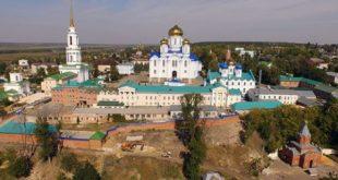 В Липецкой области горел корпус Задонского монастыря