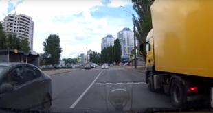 Машина из автошколы грубо нарушила правила