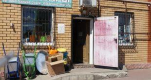 Торговцы в Хлевном использовали пандус магазина в качестве витрины (видео)