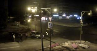 Ночное ДТП в Липецке закончилось дракой (видео)