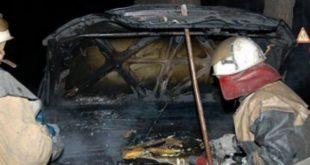 Ночью вЕльце сгорел автомобиль