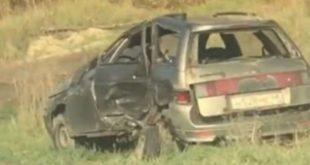 Последствия столкновения «Шкоды» и«ВАЗа» попали навидео