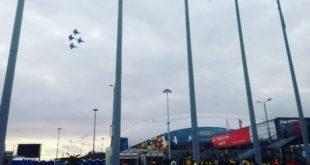 «Соколы России» показали высший пилотаж над Олимпийским парком в Сочи