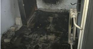 ВЛипецке загорелся подъезд многоэтажки
