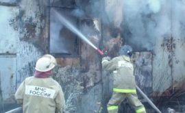 Загорание строительного вагончика в г. Липецк