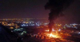 На окраине Липецка сгорел склад с нефтепродуктами