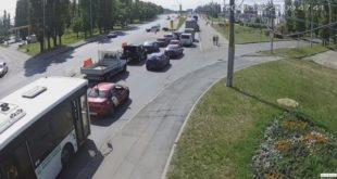 Два автобуса столкнулись наПетровском мосту вЛипецке