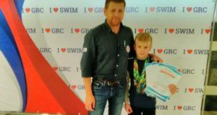 Юный пловец из Грязей блестяще выступил в Минске