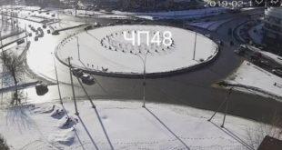 Авария на кольце Катукова в Липецке попала на видео