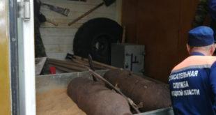 В Липецкой области спасатели уничтожили две авиационные бомбы