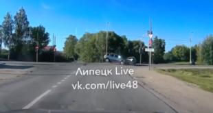 Серьезное ДТП случилось у злополучного светофора под Липецком (видео)