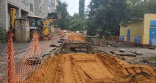 Более 500 метров труб заменили на улице Ворошилова