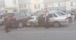 Пьяный водитель разбил несколько автомобилей (видео)