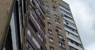 Пожар на липецкой высотке ограничился балконом квартиры