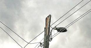 Шаровая молния разворотила столб в Липецкой области